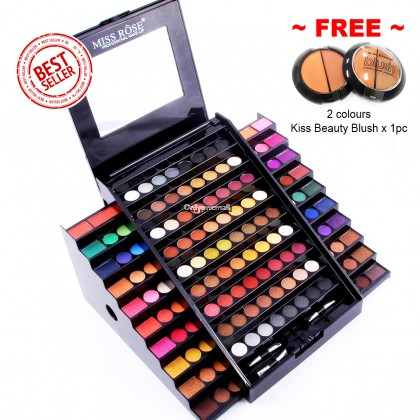 130 Colors Miss Rose Professional Makeup Academy Palette (FREE Blush x 1pc)