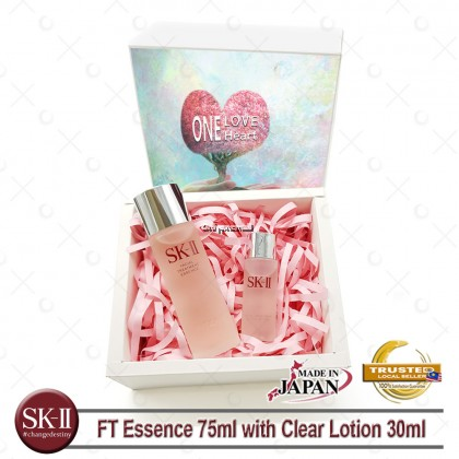 SK-II Facial Treatment Essence 75ml FREE SK-II FT Clear Lotion 30ml