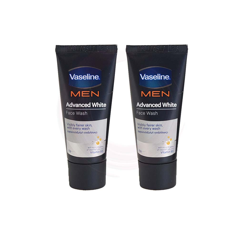 Vaseline Men Advanced White Face Wash 15g x 2