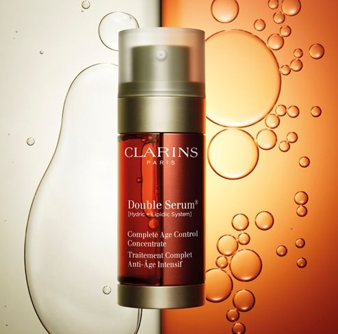 Clarins Golden Double Serum 50ml (Limited Edition With Free Gift)